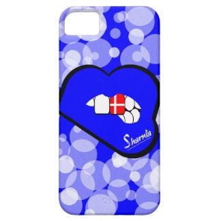 Lábios azuis da capa de telefone móvel de
