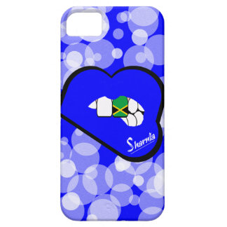Lábios azuis da capa de telefone móvel de Jamaica