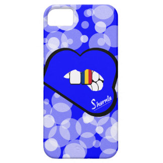 Lábios azuis da capa de telefone móvel de Romania