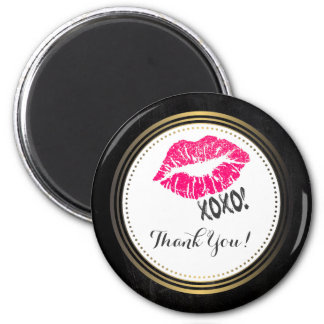 "Lábios cor-de-rosa ""sexy"" de Kissy com xoxo! Imã"