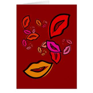 Lábios da forma cartão comemorativo