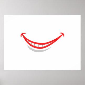 Lábios de sorriso poster