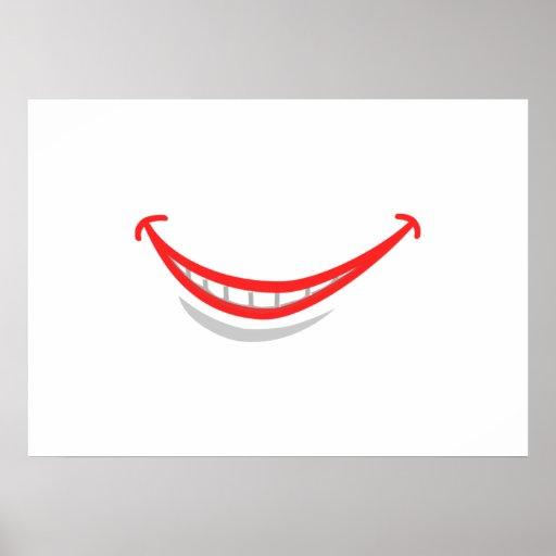 Lábios de sorriso pôsteres