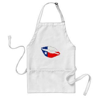Lábios de Texas Avental