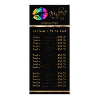 Lábios do arco-íris - serviço/tabela de preços panfleto