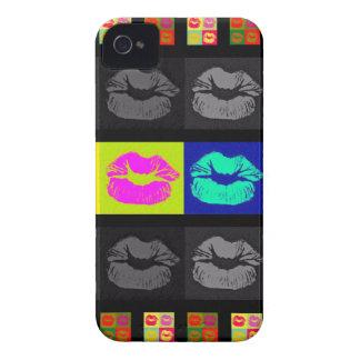 Lábios fluorescentes de Black&White Capa Para iPhone 4 Case-Mate