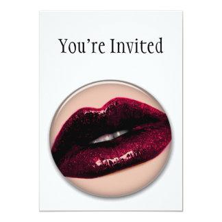 Lábios Sparkling encarnados de Kissable Convite 12.7 X 17.78cm