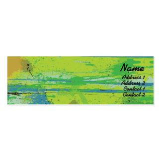 Lábios verdes - magros modelos cartoes de visita