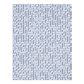 Labirinto azul de Alice em um jardim inglês do Flyer 21.59 X 27.94cm