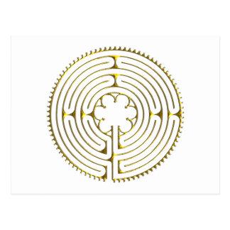 Labirinto Chartres Cartão Postal