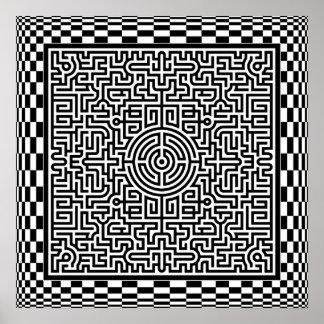 Labirinto da Op-Arte e poster dos verificadores