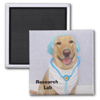 Laboratório de pesquisa ímã quadrado