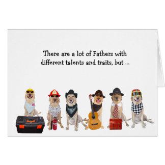 Laboratório engraçado/cão do pai super cartão comemorativo