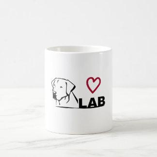 Laboratório preto caneca de café