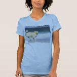 Labradoodle - dia feliz na praia tshirts