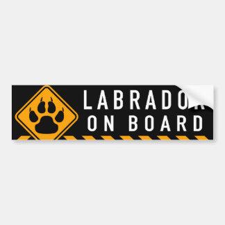 Labrador a bordo adesivo para carro