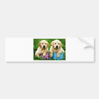 Labrador persegue puppys angie adesivo para carro