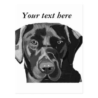 Labrador preto cartão postal