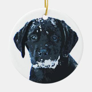 Labrador preto - ornamento cerâmico dos cristais