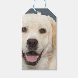 Labrador retriever 1 etiqueta para presente