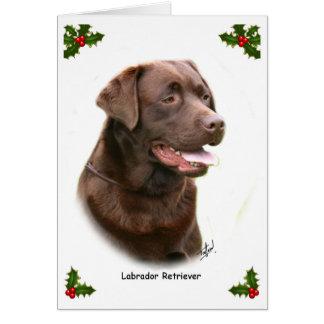 Labrador retriever 9Y243D-004a Cartão Comemorativo