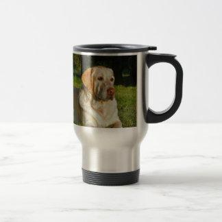 Labrador retriever amarelo caneca