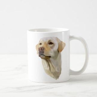 Labrador retriever amarelo caneca de café