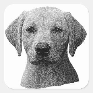 Labrador retriever - imagem de Sylized - adicionam Adesivo Quadrado