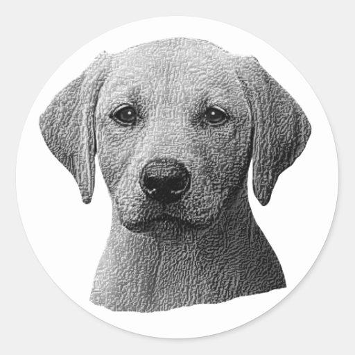 Labrador retriever - imagem de Sylized - adicionam Adesivo Redondo