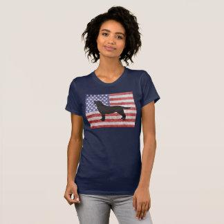 Labrador retriever patriótico 4o do t-shirt de camiseta