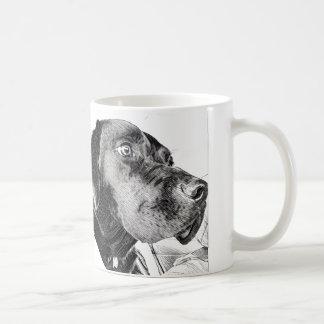 Labrador retriever preto caneca de café