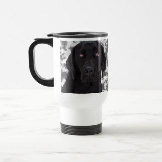 Labrador retriever preto caneca térmica