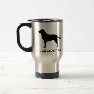 Labrador retriever (preto) caneca térmica