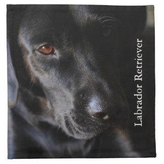 Labrador retriever preto guardanapos impresso