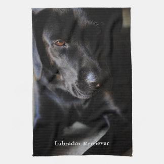 Labrador retriever preto toalhas de mão