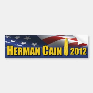 Laço 2012 do amarelo de Herman Cain Adesivo Para Carro