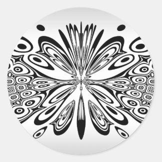Laço abstrato adesivos