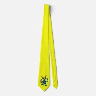 Laço amarelo W/Reindeer Gravata