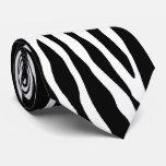Laço animal do impressão do teste padrão da zebra gravata