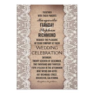 laço antigo e convites rústicos do casamento de