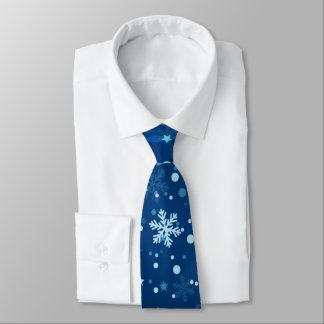 Laço azul do feriado do teste padrão do floco de gravata