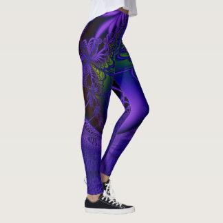 Laço azul do Fractal Legging