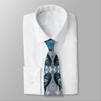 Laço azul do pescoço do abstrato dos peixes de Koi Gravata