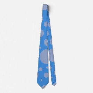 Laço azul dos pontos gravata