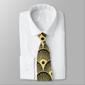 Laço bonito dos homens do teste padrão do art deco gravata