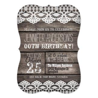 Laço branco & aniversário adolescente adulto de convite 12.7 x 17.78cm
