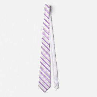 Laço branco com listras gravata