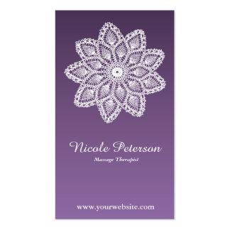 Laço branco - massagem cartão de visita