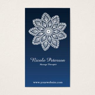 Laço branco - massagem cartão de visitas