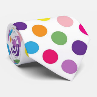 Laço brilhante do teste padrão de bolinhas gravata